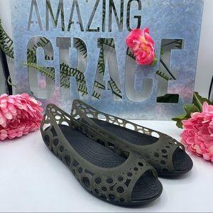 Crocs Sz 6 Peep Toe Jellies